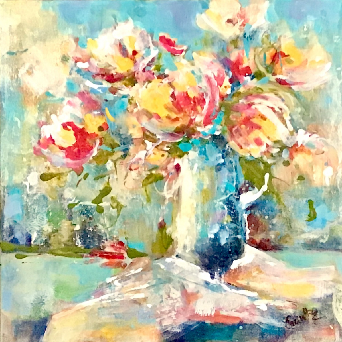 SOLD - IN A BLUE VASE