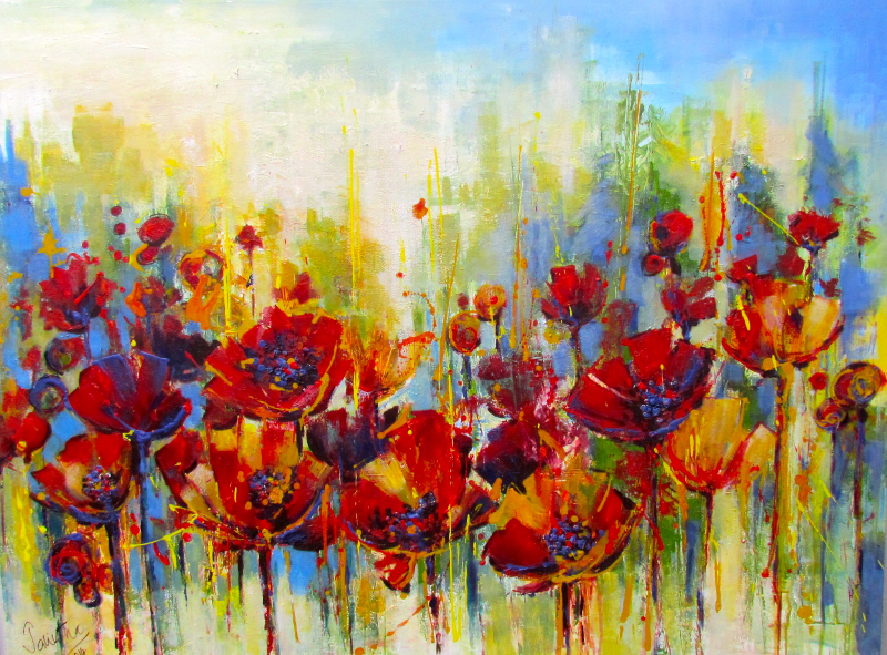 POPPIES FOR DEBRA - SOLD