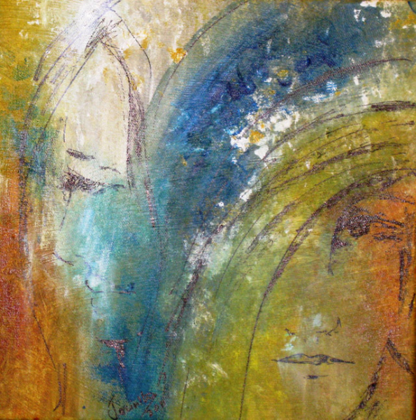 SISTERS IN CONTEMPLATION - SOLD