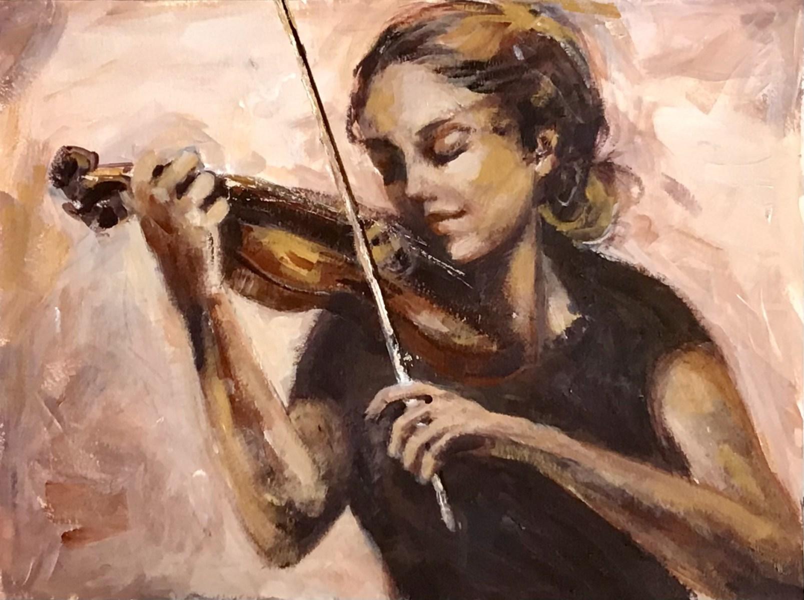 MUSICIAN IN MONOCHROME