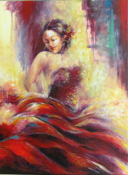 FLAMENCO DANCER - SOLD
