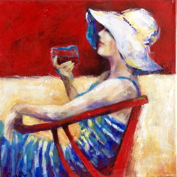 SOLD - A GLASS OF RED