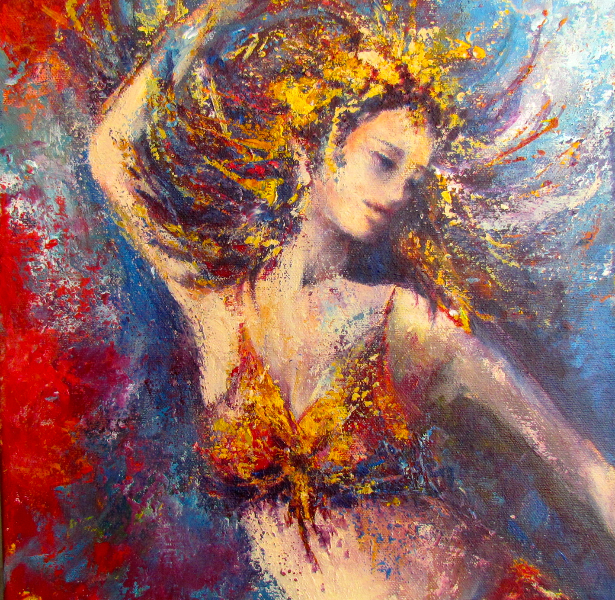 DANCING THE BRAZILIAN SAMBA! - SOLD