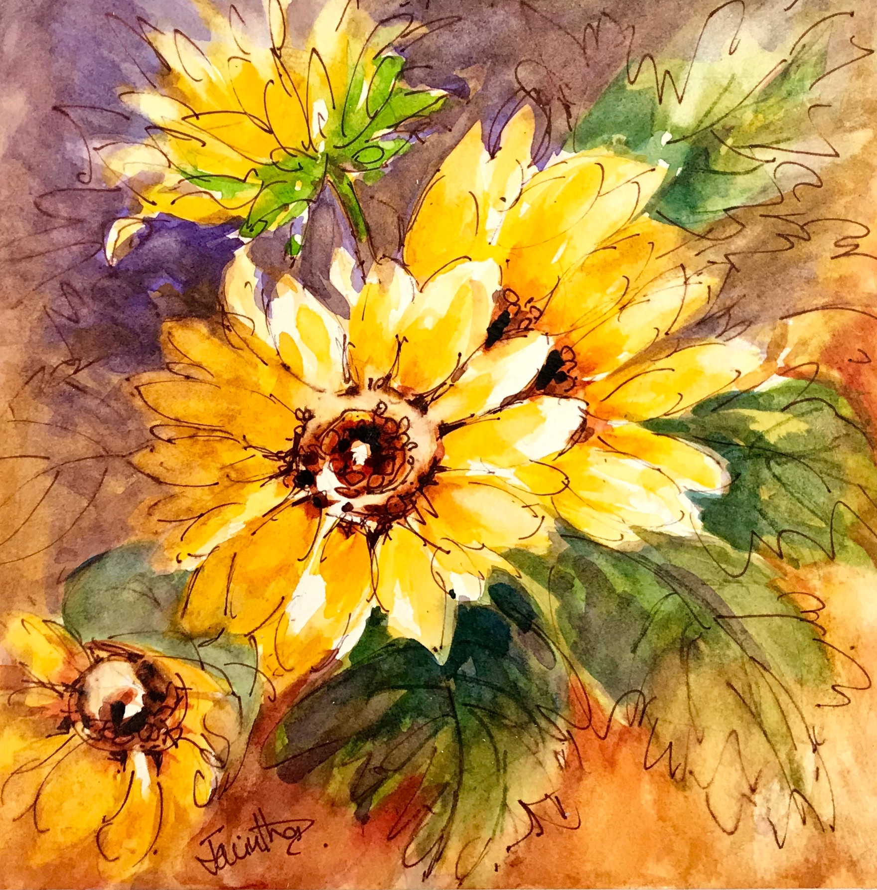 GOLDEN SUNFLOWERS