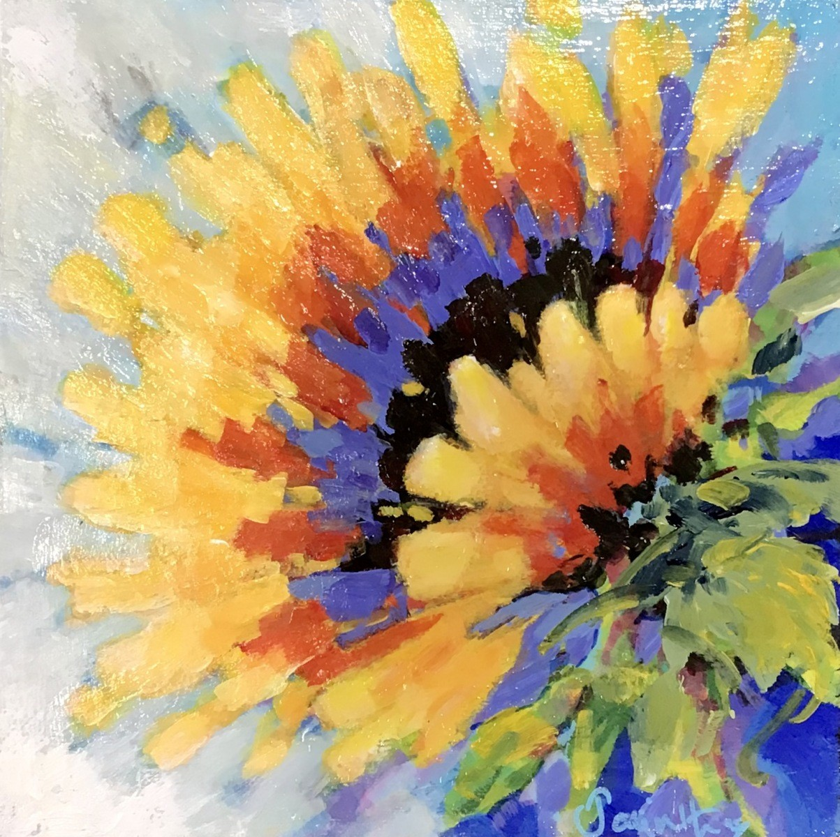 SOLD - GOLDEN  SUNFLOWER
