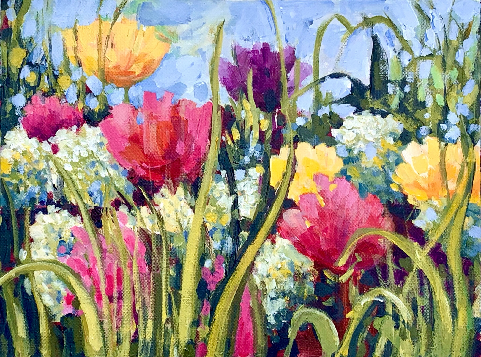 SOLD - SPRING RIOT OF COLOUR