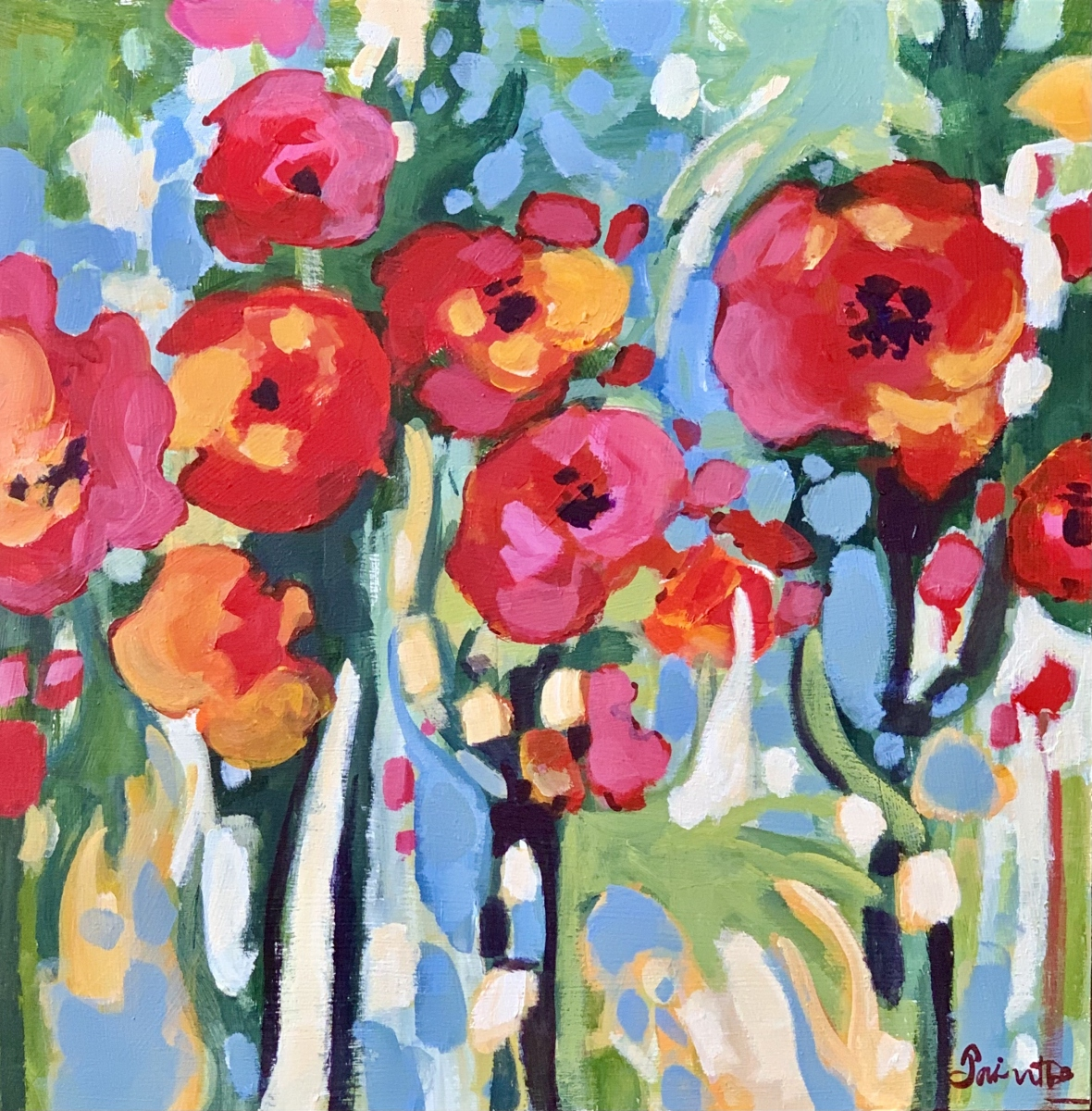 SOLD - POPPIES IN ABSTRACTION