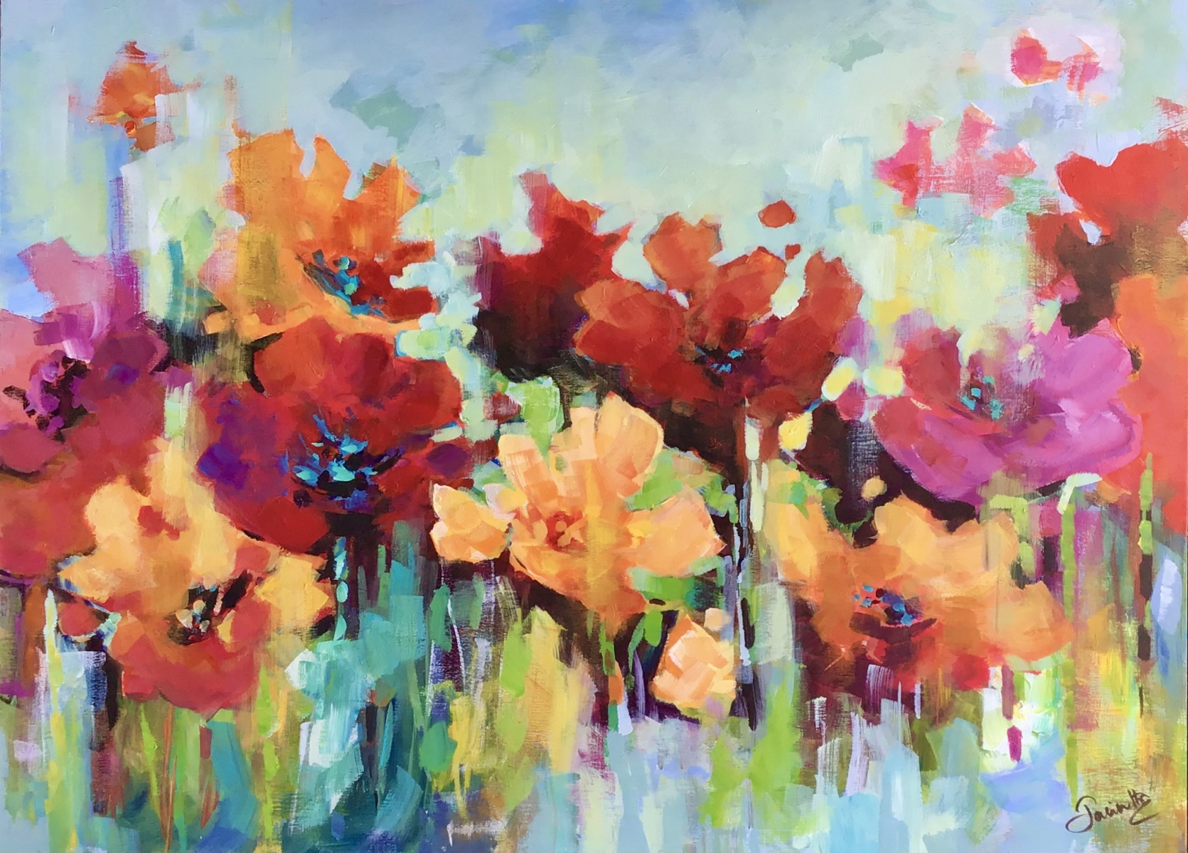 SOLD - POPPIES GALORE!