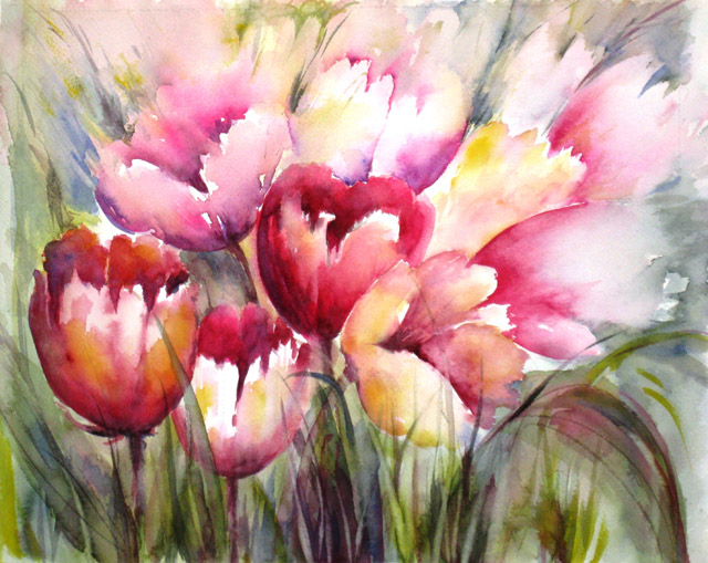 CRIMSON TULIPS - SOLD