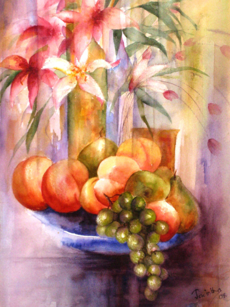 FLOWERS AND FRUIT - SOLD