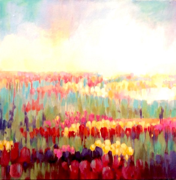 SOLD - TULIPS AND SUNSHINE
