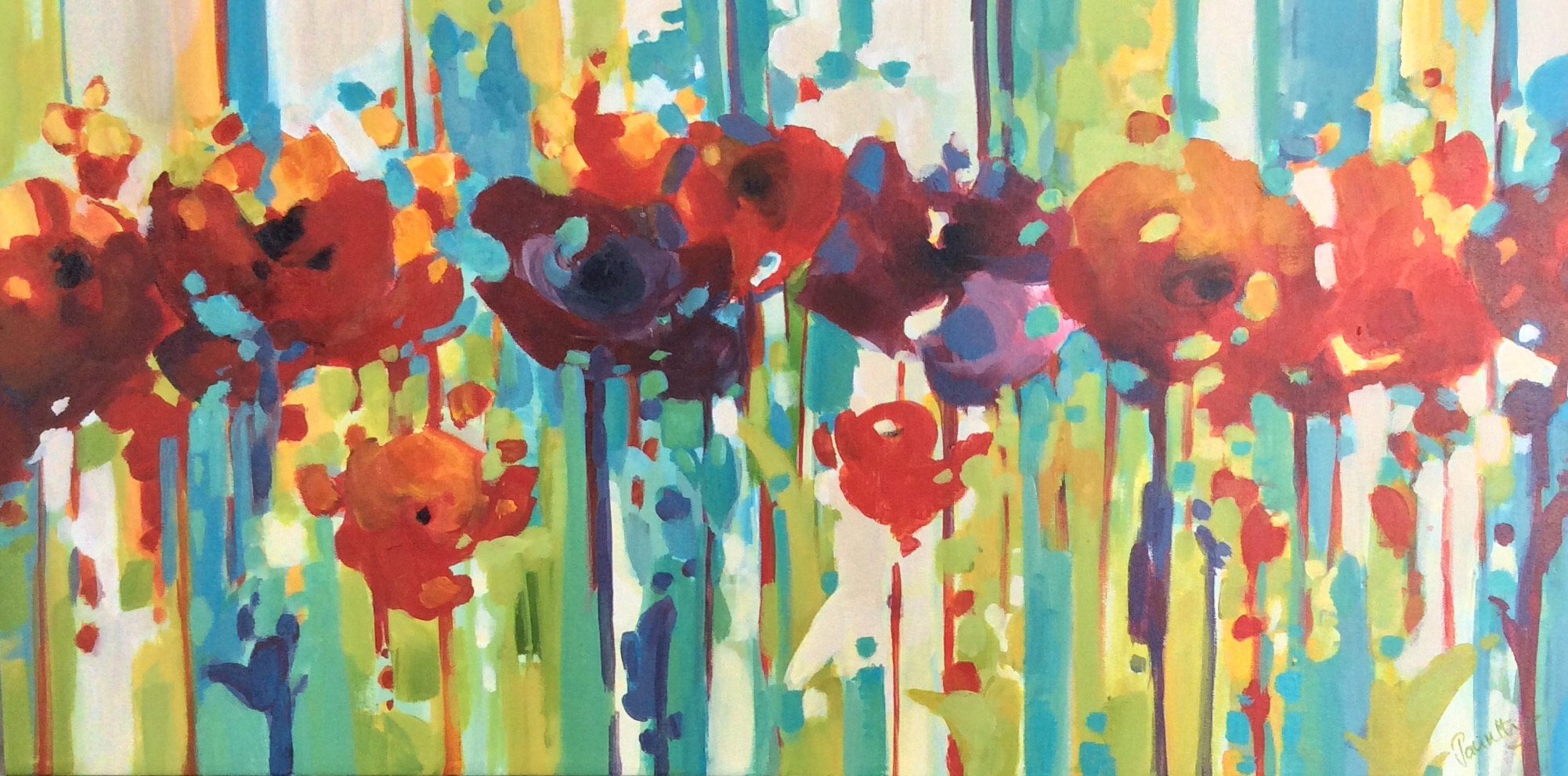 SOLD - RED RED POPPIES