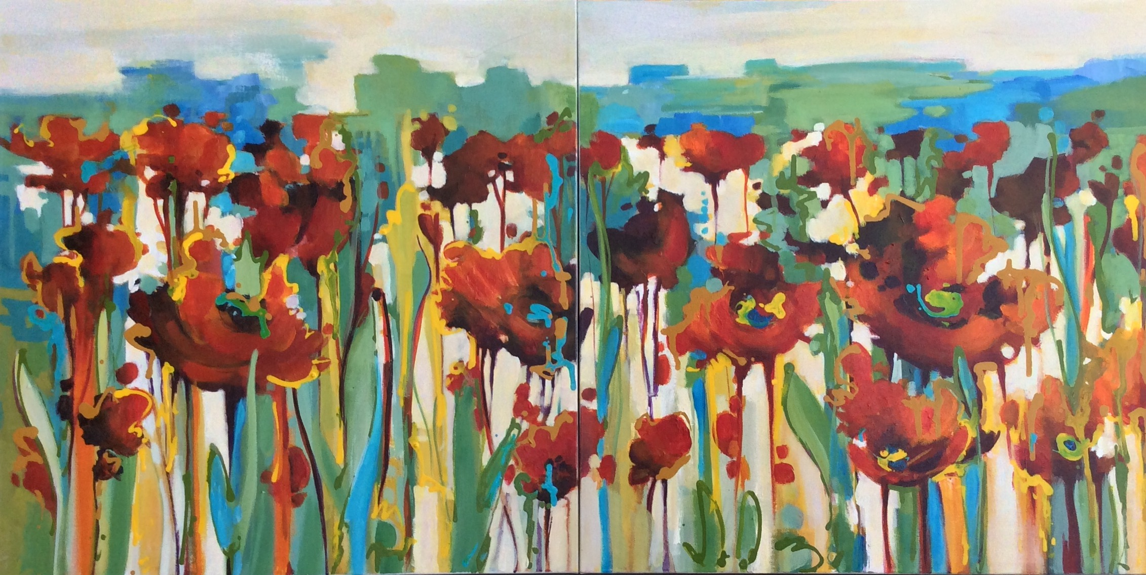 SOLD - DANCING POPPIES