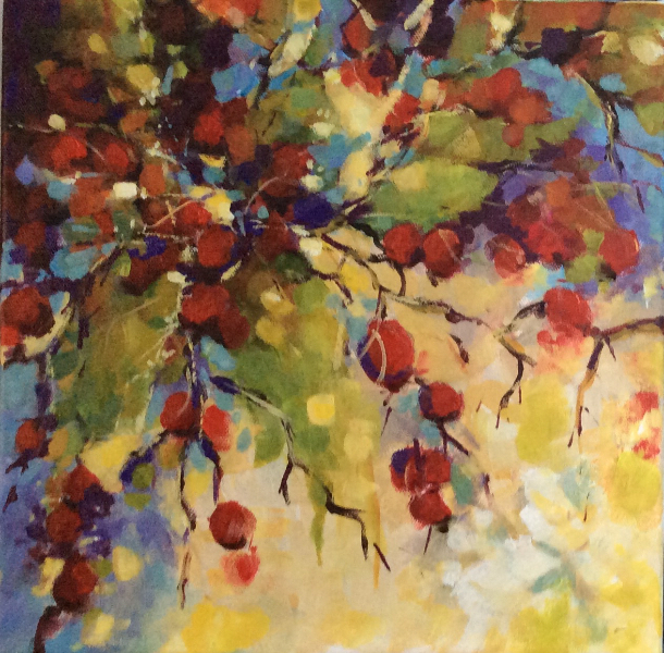 SOLD - RED BERRIES AND SUNSHINE