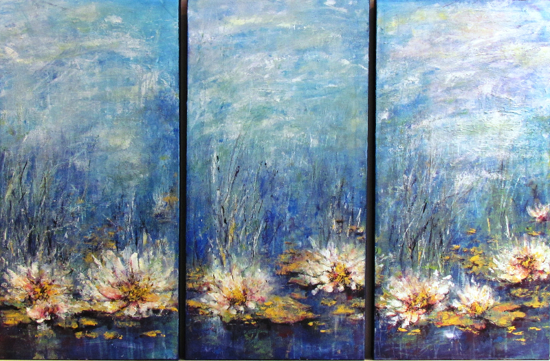 WHITE LILY POND - SOLD