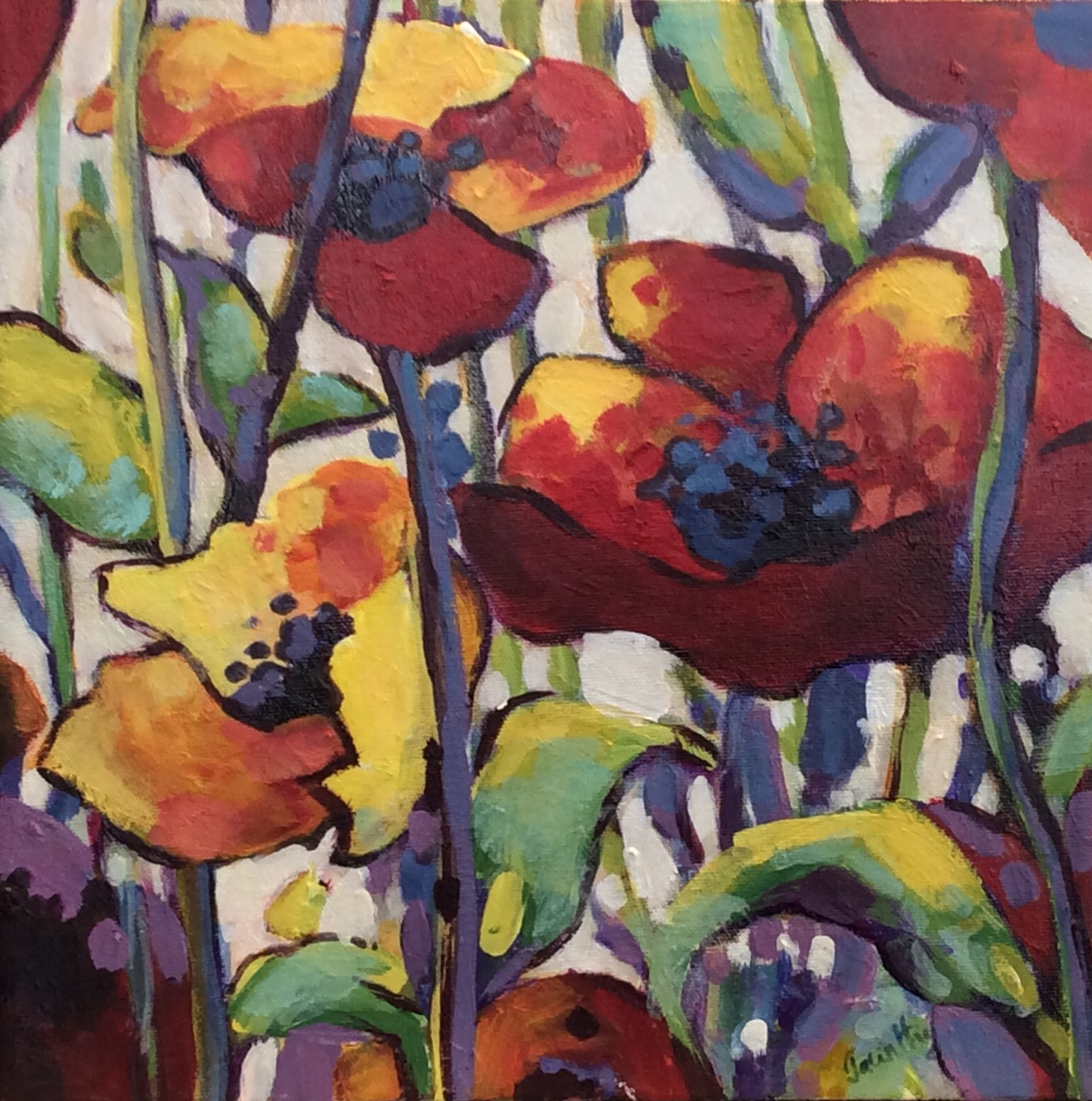 SOLD - POPPIES IN RHYTHM