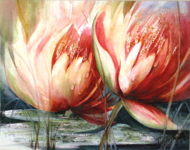 LOTUS BLOOMS - SOLD