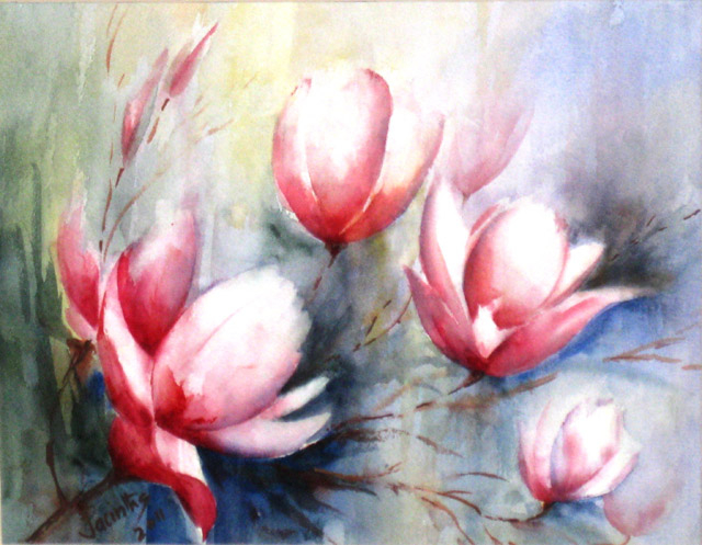 MAGNOLIAS IN SPRING - SOLD