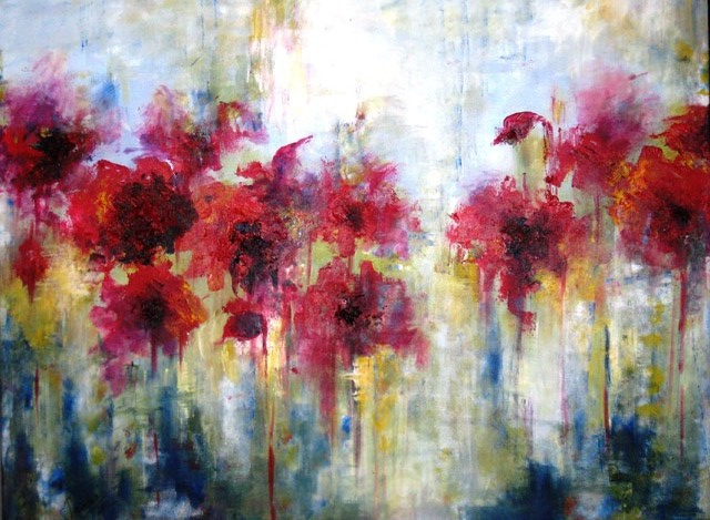 POPPIES IN THE FIELD - SOLD