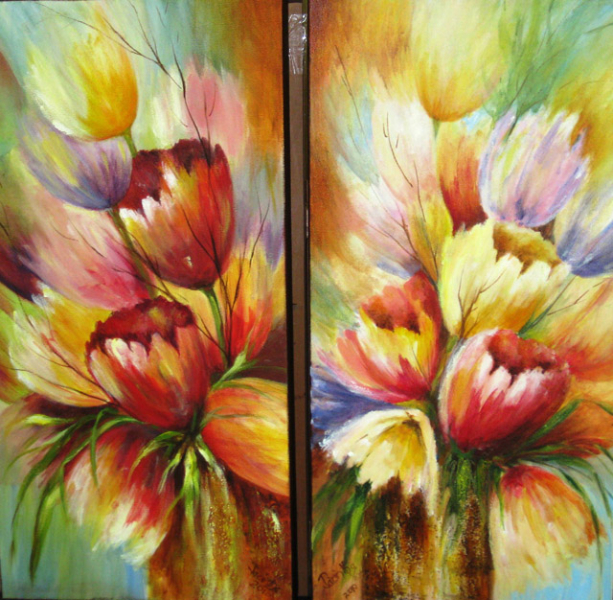 TULIP PAIR - SOLD