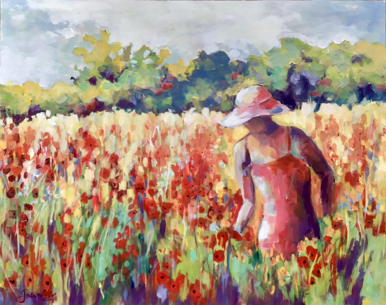 SOLD - POPPY FIELDS