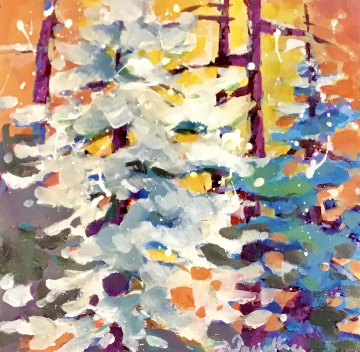 SOLD - SNOW TREES (2)