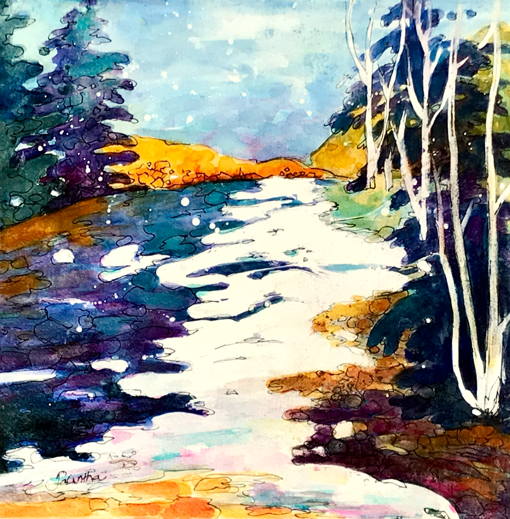 SOLD - A WINTER MORNING