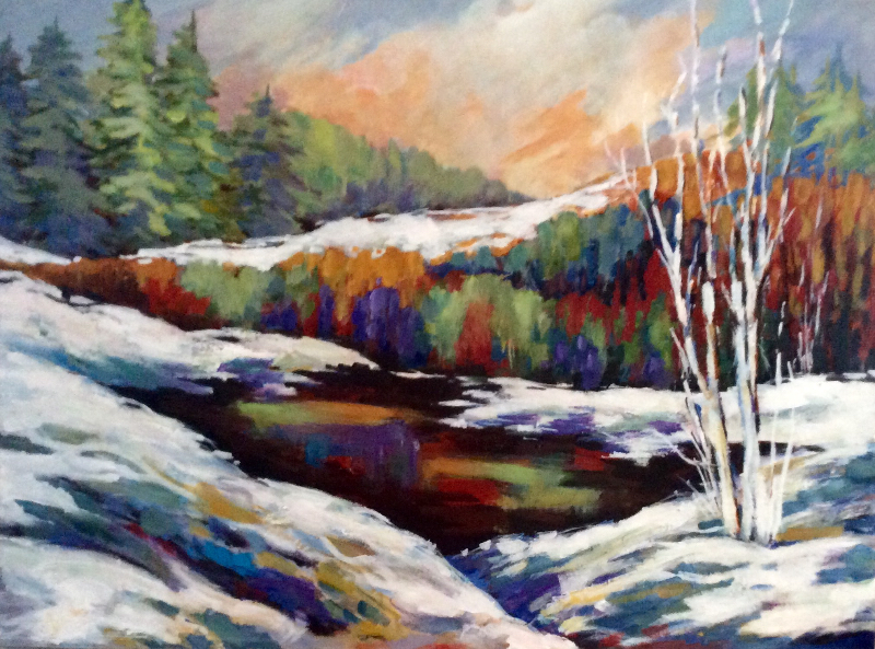 WINTER IN THE LAURENTIANS -SOLD