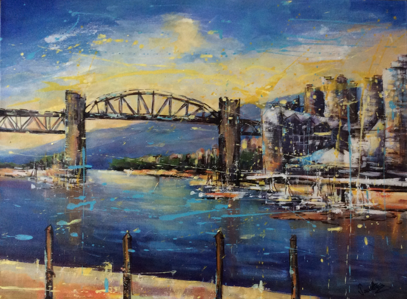 LOOKING ACROSS GRANVILLE ISLAND - SOLD.