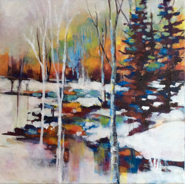 SUNSET IN WINTER - SOLD
