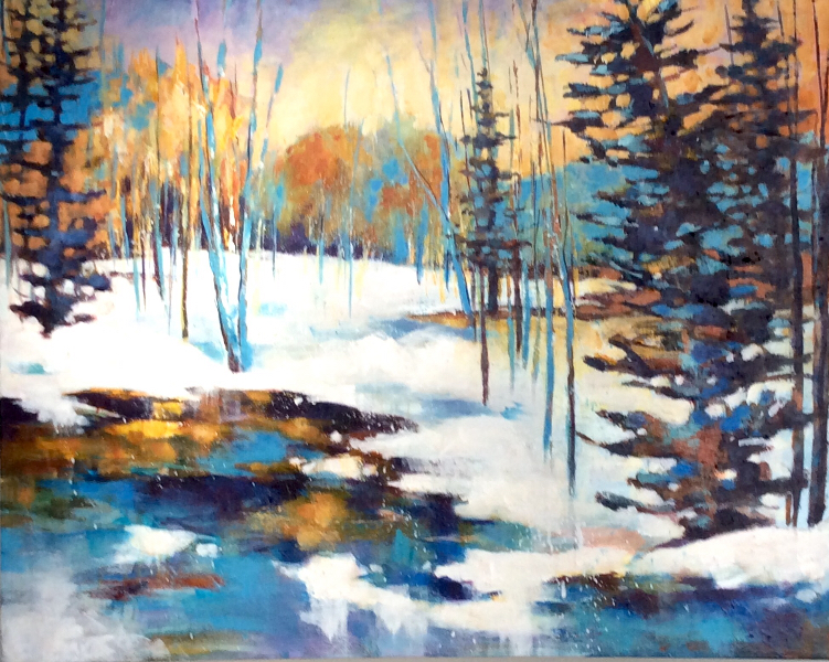 MORNING SUN, MELTING SNOW- SOLD