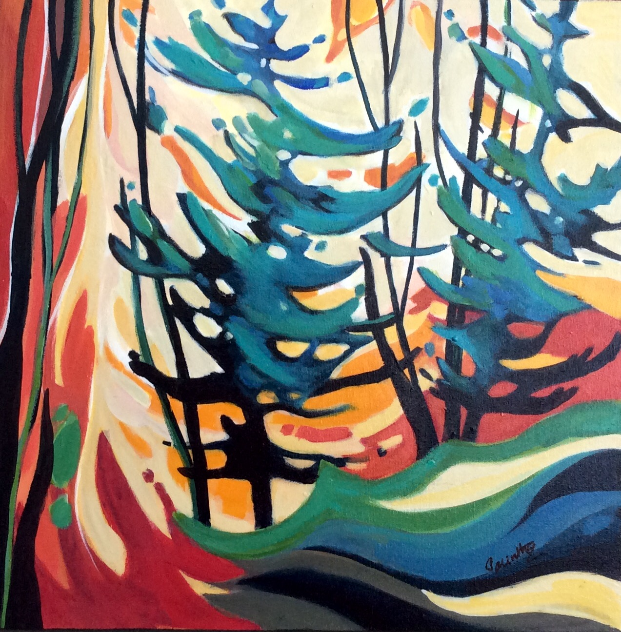 SOLD - DANCE OF THE TREES - 2