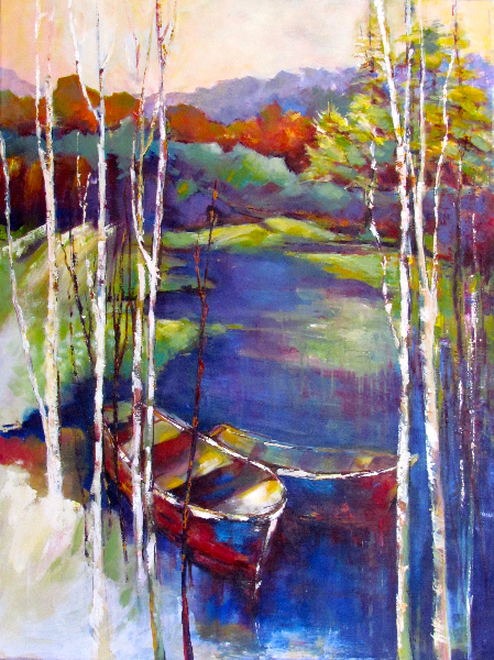 A DAY AT THE LAKE - SOLD