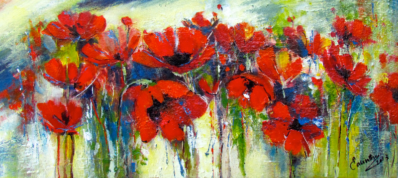 SINEAD'S POPPIES - SOLD