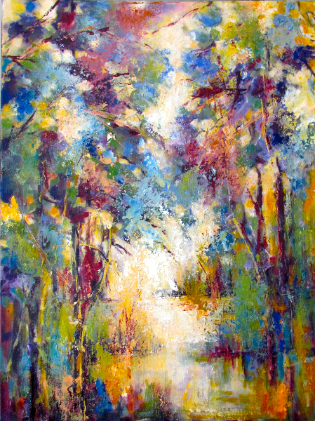 SUNLIGHT THROUGH THE FOREST - SOLD