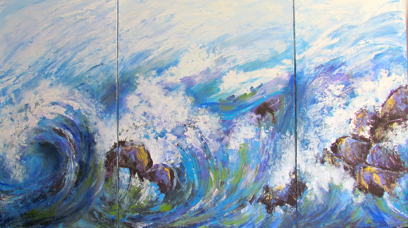 OCEAN IN MOTION - SOLD