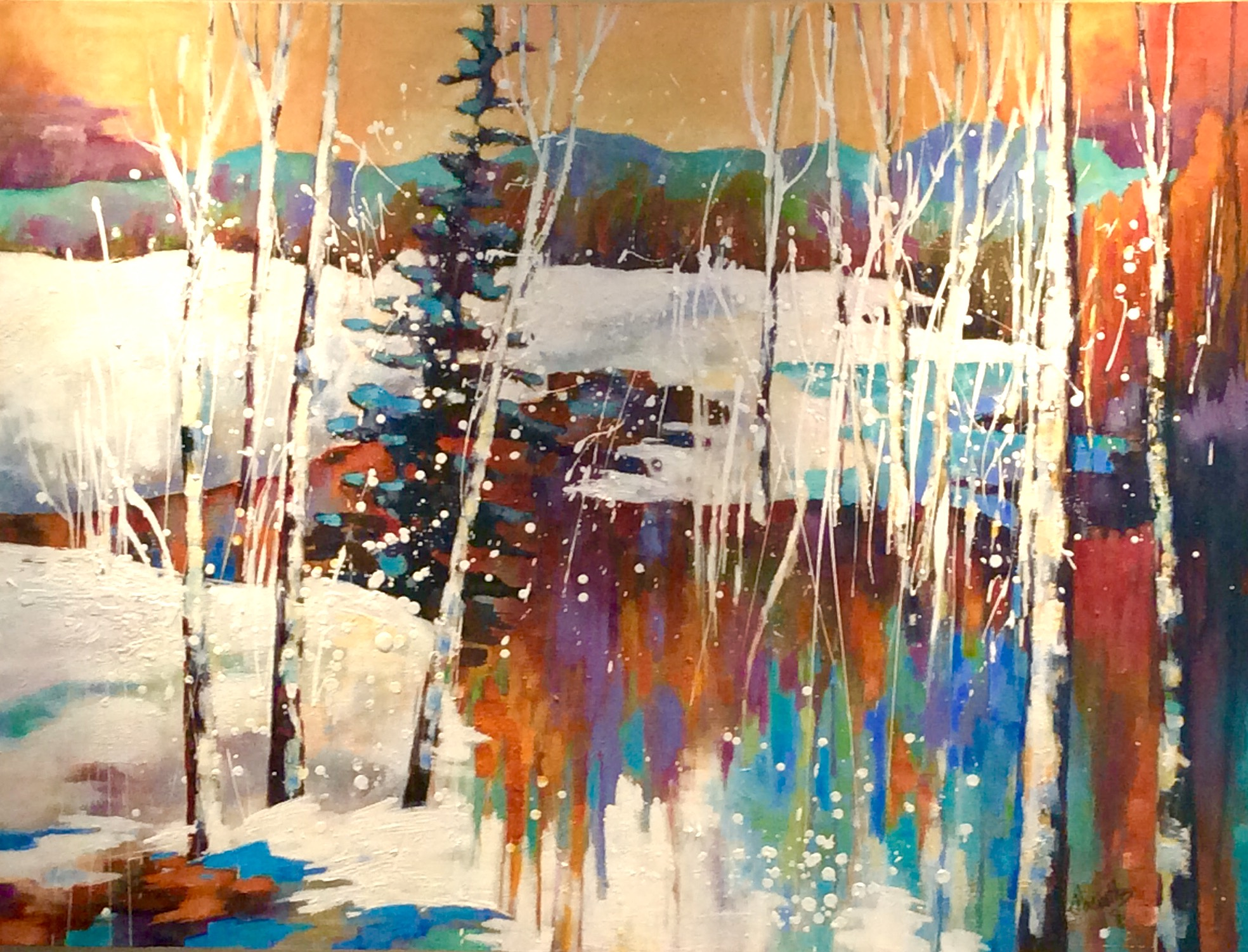 SOLD - MORNING REFLECTIONS