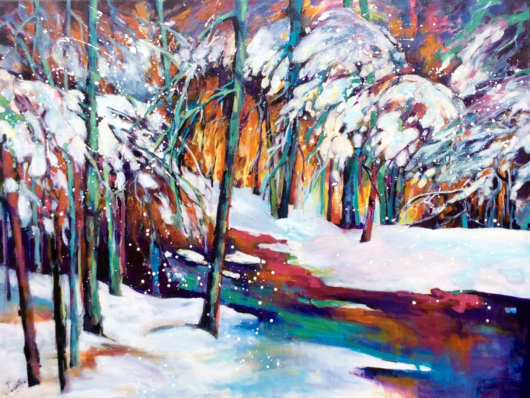 SOLD - WINTER WOODS