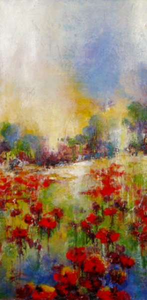 POPPIES ON A HILL (1 of 2) - SOLD