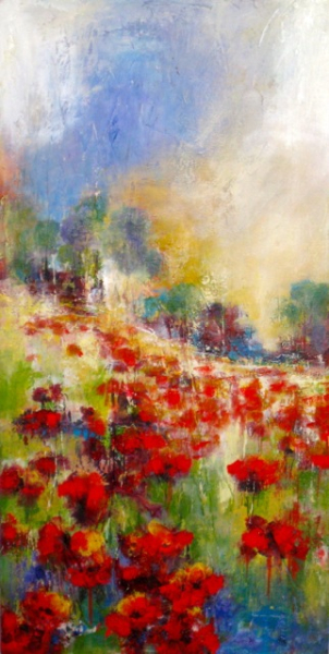 POPPIES ON A HILL(2 of 2) - SOLD