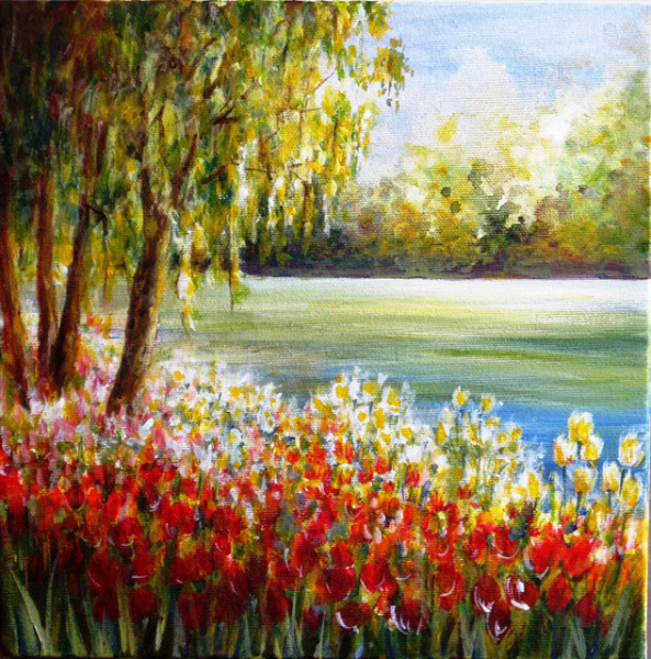 TULIPS BY THE OTTAWA RIVER- 1 of 2 - SOLD