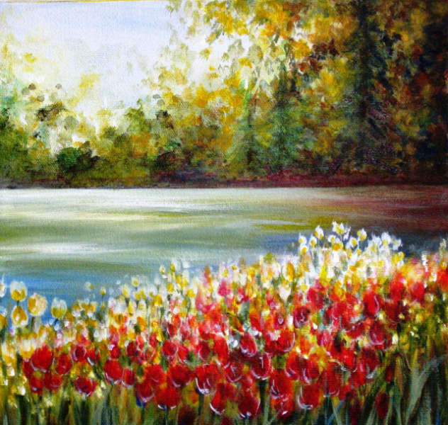 TULIPS BY THE OTTAWA RIVER - 1 of 2 - SOLD