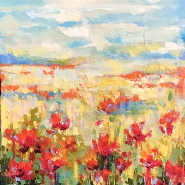 SOLD - POPPIES IN THE SUN